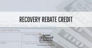 Recovery Rebate Credit